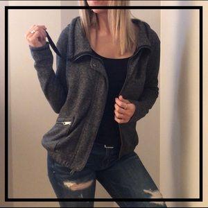 AEO Stylish Gray Heathered Jacket